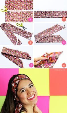 DIY: How to Make a Headband in 6 Easy Steps (Como hacer una banda para el cabello en 6 sencillos pasos) | Live Colorful