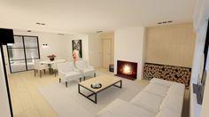 renovatie#interieur#zitruimte#living#cosy#eik#haard#stalen deur
