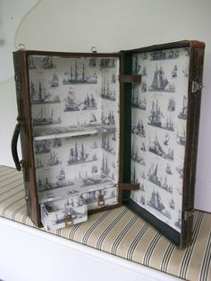 Upcycled Leather suitcase wall cupboard by echofuniture on Etsy, £180.00