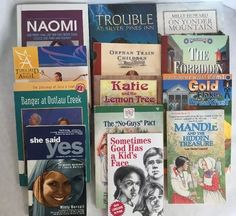 Christian Fiction Book Lot of 13 Childrens Chapter Books Home School  HomeSchool