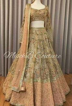 Nudes n Peaches, bridal lehenga for our gorgeous girl ➡ for more pictures and details, also our beautiful bride who looks absolutely… Indian Wedding Gowns, Indian Gowns Dresses, Indian Bridal Outfits, Indian Designer Outfits, Royal Dresses, Big Fat Indian Wedding, Party Wear Lehenga, Bridal Lehenga Choli, Indian Lehenga