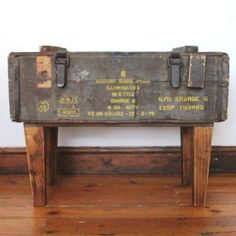 Ammo Crate Sidetable. Every house needs a man cave