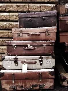 I would buy stacks and stacks of old luggage