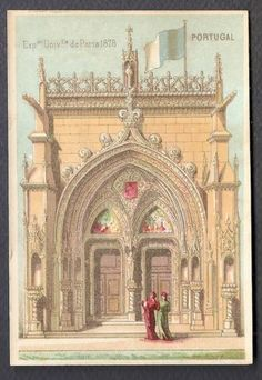 Portugal Exposition Universelle Paris 1878 Chromo Trade Card