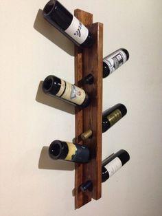 Pallet wood wine rack decor.  Handmade. фото