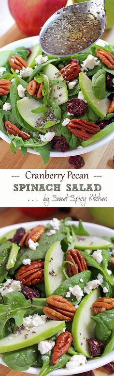 Today on the menu is a healthy food – Cranberry Pecan Spinach Salad recipe rich with apples and cheese..Read More »