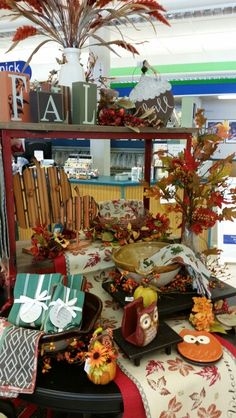 Fall Display - Westbend Autumn Displays, Table Settings, Table Decorations, Fall, Furniture, Home Decor, Autumn, Decoration Home, Fall Season