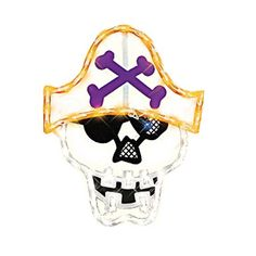 Halloween Lighted Window Decoration, Pirate, Frightfully fun lighted window decoration, pirate measures approximately 14 x 17 -Inch and suitable for indoor or.., By Impact Innovations - Walmart.com