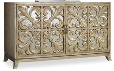 Hooker Furniture Melange Melange Fleur-de-lis Mirrored Credenza