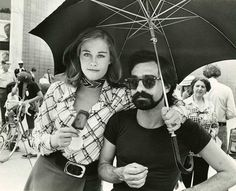 marty and cybill on the set of taxi driver