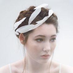 Feather Crown, Bridal Wreath, White Feather, Gold, Silver, Woodland Wedding, Bridal Garland - Rhi by MaggieMowbrayBRIDAL on Etsy https://www.etsy.com/uk/listing/170995030/feather-crown-bridal-wreath-white