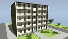 multi-level-building Low Cost Housing, Architecture Visualization, Affordable Housing, Multi Story Building, House, Home, Haus, Houses