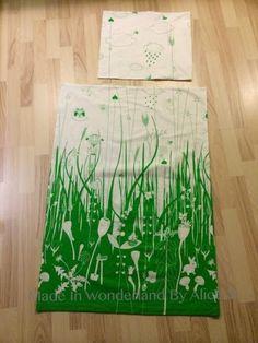 Made In Wonderland By Alice: Grøn/hvid græs landskab baby sengetøj