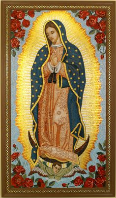 Virgin of Guadalupe Mosaic Mural Designed and Fabricated by Donna Van Hooser ofSun Dog Mosaics
