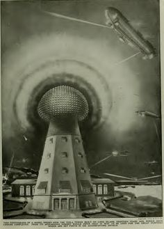 "Let's get back to Nikola Tesla's autobiography. Part V* in Nikola Tesla's series, ""My Inventions,"" published in The Electri. Nikola Tesla, Ufo, Viktor Schauberger, Tesla Inventions, Einstein, Secrets Of The Universe, Tower Building, Electrical Energy, Retro Futurism"