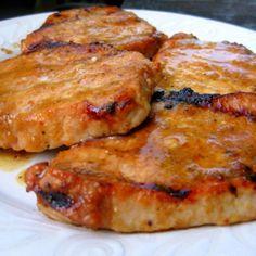 Bada Bing Pork Chops Recipe- These are the best porkchops ever! Pork Rib Recipes, Grilling Recipes, Cooking Recipes, Meat Recipes, Recipies, Dinner Recipes, Cooking Beef, Grilling Ideas, Freezer Recipes