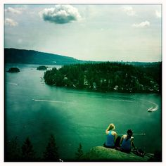A view from Indian Arm while hiking in Deep Cove in Vancouver, BC. Vancouver is full of stunning hikes like these, and when the sun is out, you won't want to be anywhere else. Golden Birthday, Outdoor Camping, True Beauty, Places Ive Been, Vancouver, Trail, Arm, Hiking, Outdoors
