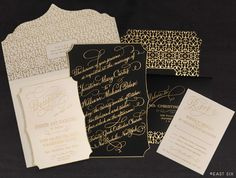 East Six: Wedding Invitations New York I love the whole package of #invitations