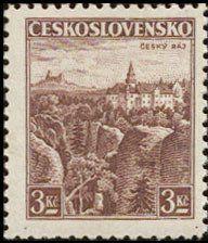 Znaczek: Český Raj (Czechosłowacja) (Castles, landscapes and cities) Mi:CS 355,Sn:CS 222,Yt:CS 315,AFA:CS 219,POF:CS 309