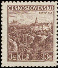 Znaczek: Český Raj (Czechosłowacja) (Castles, landscapes and cities) Mi:CS 355,Sn:CS 222,Yt:CS 315,AFA:CS 219,POF:CS 309