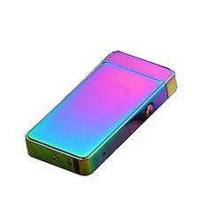 1stモール 全3種類 充電 プラズマライター (パープル) 専用ケース付き USB アーク放電 ST-XZ-2023X-PP