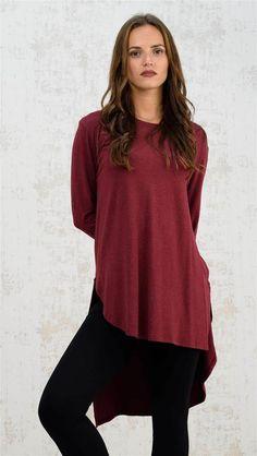 Ασύμμετρη μπλούζα | Χειμερινή Collection 2016 | Potre Tunic Tops, Collection, Women, Fashion, Moda, Women's, Fasion