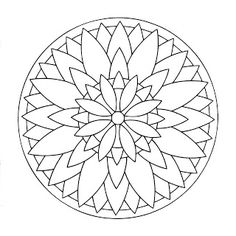 Mandalas Para Pintar: La gran flor, ejemplo de Mandala pintado
