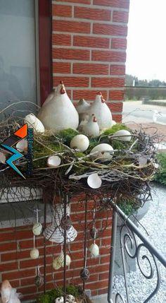 Frühjahrsdeko für mich Spring decoration for me Easter Wreaths, Christmas Wreaths, Spring Decoration, Deco Floral, Spring Crafts, Easter Baskets, Easter Crafts, Happy Easter, Floral Arrangements