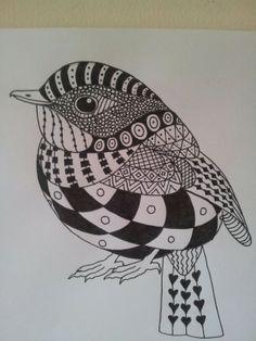 #zentangle #doodle #pen #bird