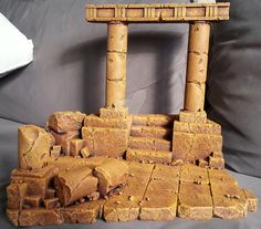 Saint Seiya - Diorama - Lost Canvas 5 by on DeviantArt Miniature Bases, Miniature Crafts, Styrofoam Art, Dragon House, Warhammer Figures, Warhammer Terrain, Game Terrain, Canvas 5, Wargaming Terrain