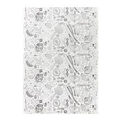 IKEA - HEMTREVNAD, Fabric - I WANT THIS!  Want to color it in with Sharpies and heat set it.  I'll be ADORABLE!