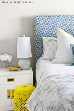 sarah m. dorsey designs: Super Simple Upholstered Headboard   Tutorial