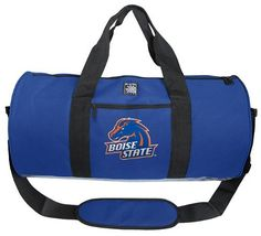 Boise State Duffel Bag Official NCAA College Logo Boise State University Broncos DUFFLE Travel / Fitness / Overnight Bag Luggage by Broad Bay. $36.99. This Official NCAA Boise State Duffle Bag is tough enough for baggage check, yet perfectly proportioned and light enough for the gym. Roomy and wide with an interior mesh pocket, outer zipper compartment, and reinforced adjustable and removable shoulder strap plus carrying handles. Tough enough for the luggage compartment yet pe...