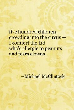 Tanka poem: five hundred children-- by Michael McClintock.