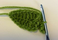 Love this pattern!   crochet leaf tutorial