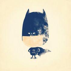 Houten photo block | Superhero