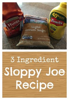 Easy sloppy joe recipe that your whole family will enjoy. Use just 3 ingredients for a tangy yet sweet meal! Healthy and inexpensive. Homemade Sloppy Joes, Sloppy Joes Recipe, Hamburger Recipes Easy, Ground Beef Recipes, Jamie Oliver, Cooker Recipes, Crockpot Recipes, Healthy Recipes, Fun Recipes