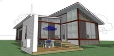 blu homes prefab modular green design image balance Modular Housing, Modular Homes, Dwell On Design, Modular Design, Prefab Homes, Homesteading, Gazebo, Living Spaces, Outdoor Structures