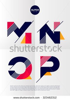 Find Typographic alphabet in a set. Contains vibrant colors and minimal design on a minimal abstract background Stock Images in HD and millions of other royalty-free stock photos, illustrations, and vectors in the Shutterstock collection. Typography Inspiration, Graphic Design Inspiration, Web Design, Logo Atelier, Logo Abstrait, Math Logo, Typographie Logo, Alphabet Design, Design Graphique