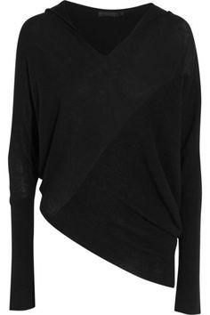 Donna Karan New York | Asymmetric cashmere hooded sweater | NET-A-PORTER.COM