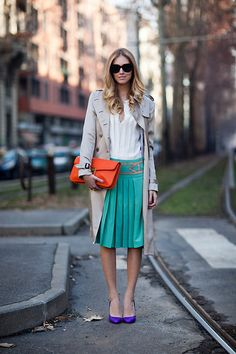 awesome colour combo great look! Alberta Ferretti dress (by Chiara Ferragni) http://lookbook.nu/look/3103855-Alberta-Ferretti-dress