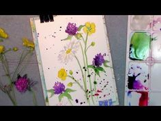 How to paint wildflowers in watercolor easy tutorial - YouTube