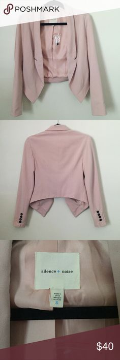 NWOT Silence + Noise Blazer NWOT Blush pink blazer. Buttons on the sleeves and silky material on the inside. Brand new never worn. Urban Outfitters Jackets & Coats Blazers