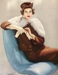 Vogue 1957| Be Inspirational|  ❥|Mz. Manerz: Being well dressed is a beautiful form of confidence, happiness & politeness