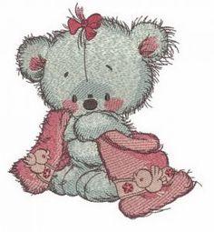 Teddy bear after shower