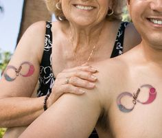 matching mother son tattoo