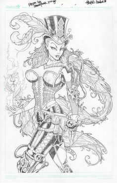 steampunk ivy drawing | Free Isabelo - Steampunk Poison Ivy by Freekflow808