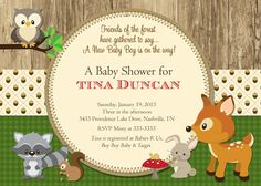 Printable+Woodland+Animals+Baby+Shower+Invitation