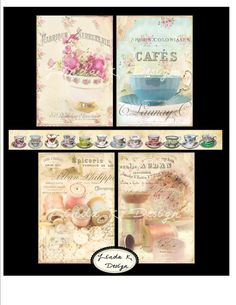Gentle Art Collage Sheet by lindakdesign on Etsy, $4.99
