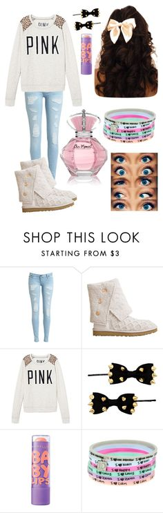 """""""High school"""" by emmajrobertson ❤ liked on Polyvore featuring UGG Australia, Victoria's Secret, Red Herring and Maybelline"""
